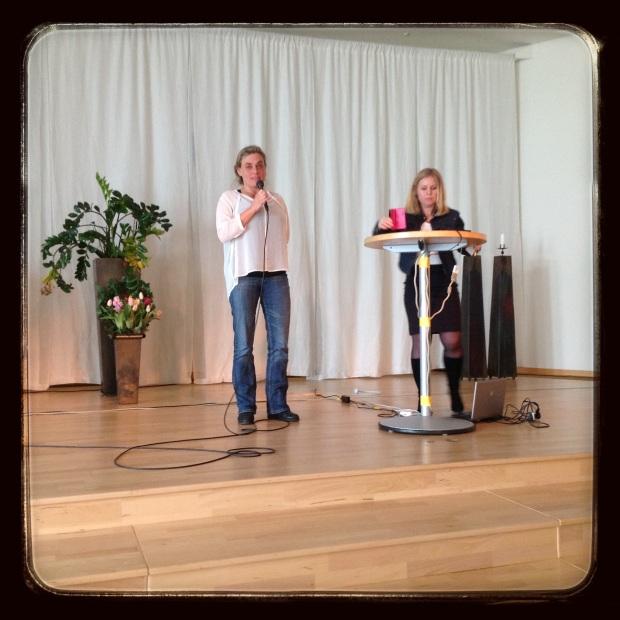Connie och Cecilia Ömeet